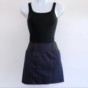 Forever 21 Chambray Mini Skirt Elastic Waist Small
